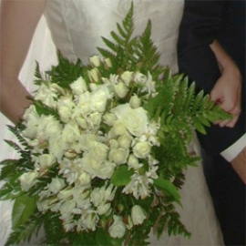 Bouquet blanco con azahar